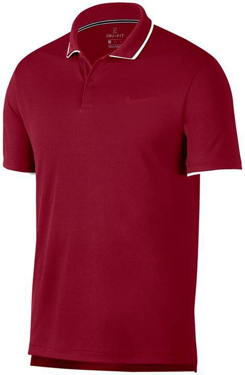 Теннисная футболка мужская Nike Court Dry Team Polo team crimson/white/white