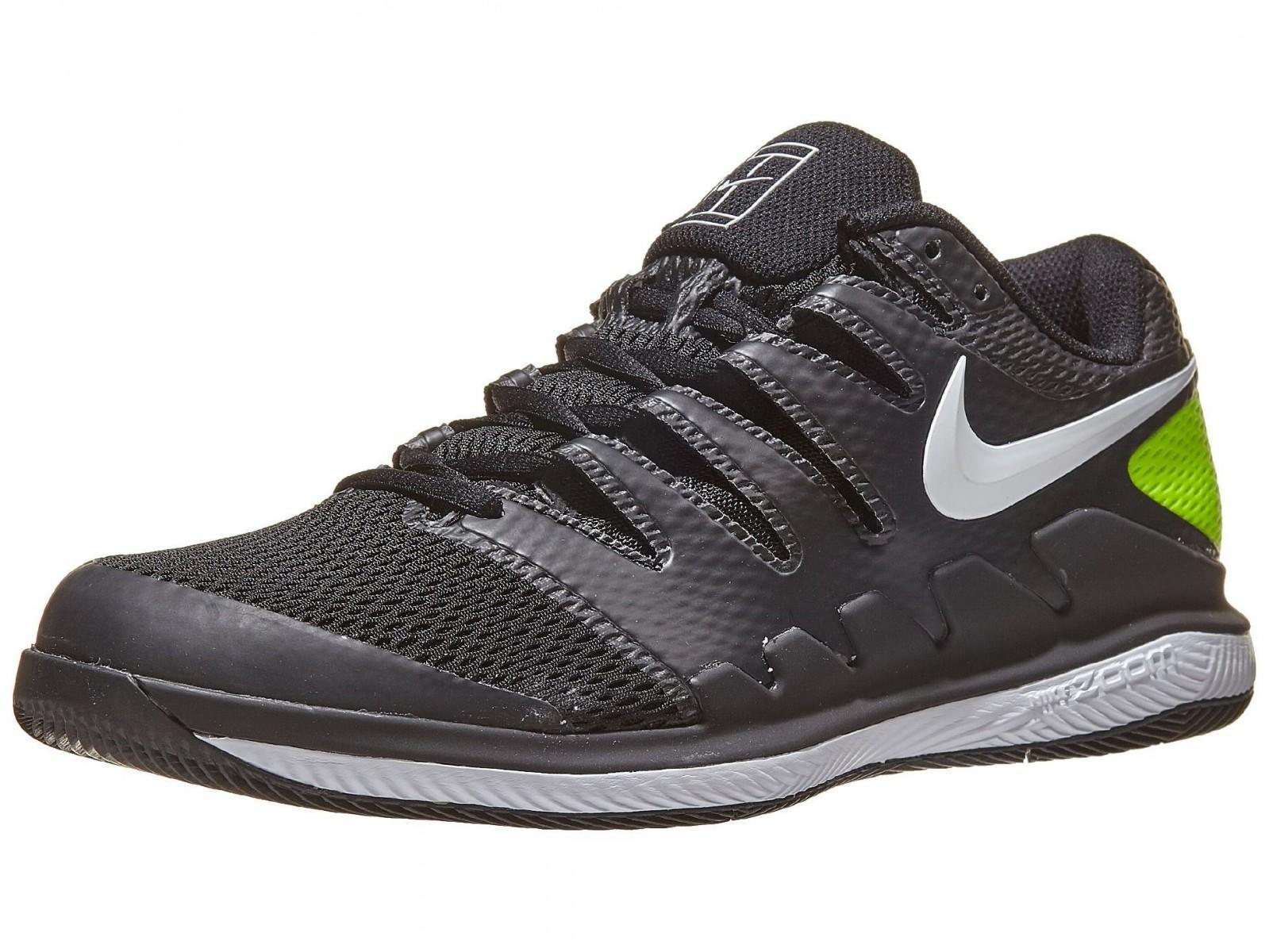 Теннисные кроссовки мужские Nike Air Zoom Vapor X black/white/volt