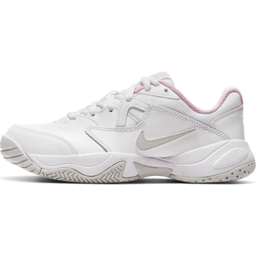 Детские теннисные кроссовки Nike Jr Court Lite 2 white/photon dust/pink foam