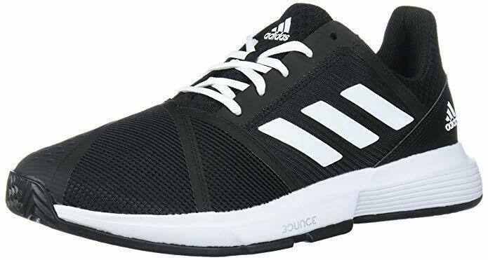 Теннисные кроссовки мужские Adidas CourtJam Bounce M core black/white/matte silver