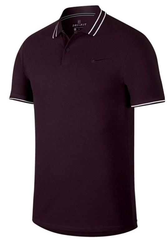 Теннисная футболка мужская Nike Court Advantage Polo burgundy