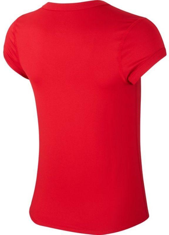 Теннисная футболка женская Nike Court Top gym red/gym red/white