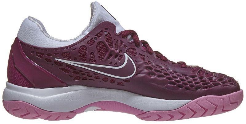 Теннисные кроссовки женские Nike WMNS Air Zoom Cage 3 HC bordeaux/bordeaux/white
