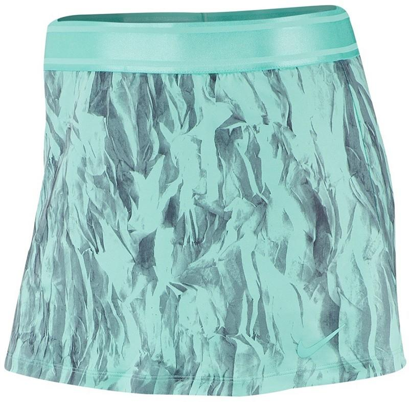 Теннисная юбка женская Nike Court Skirt STR PR light aqua/light aqua