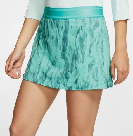 Теннисная юбка женская Nike Court Skirt STR PR light aqua/light aqua