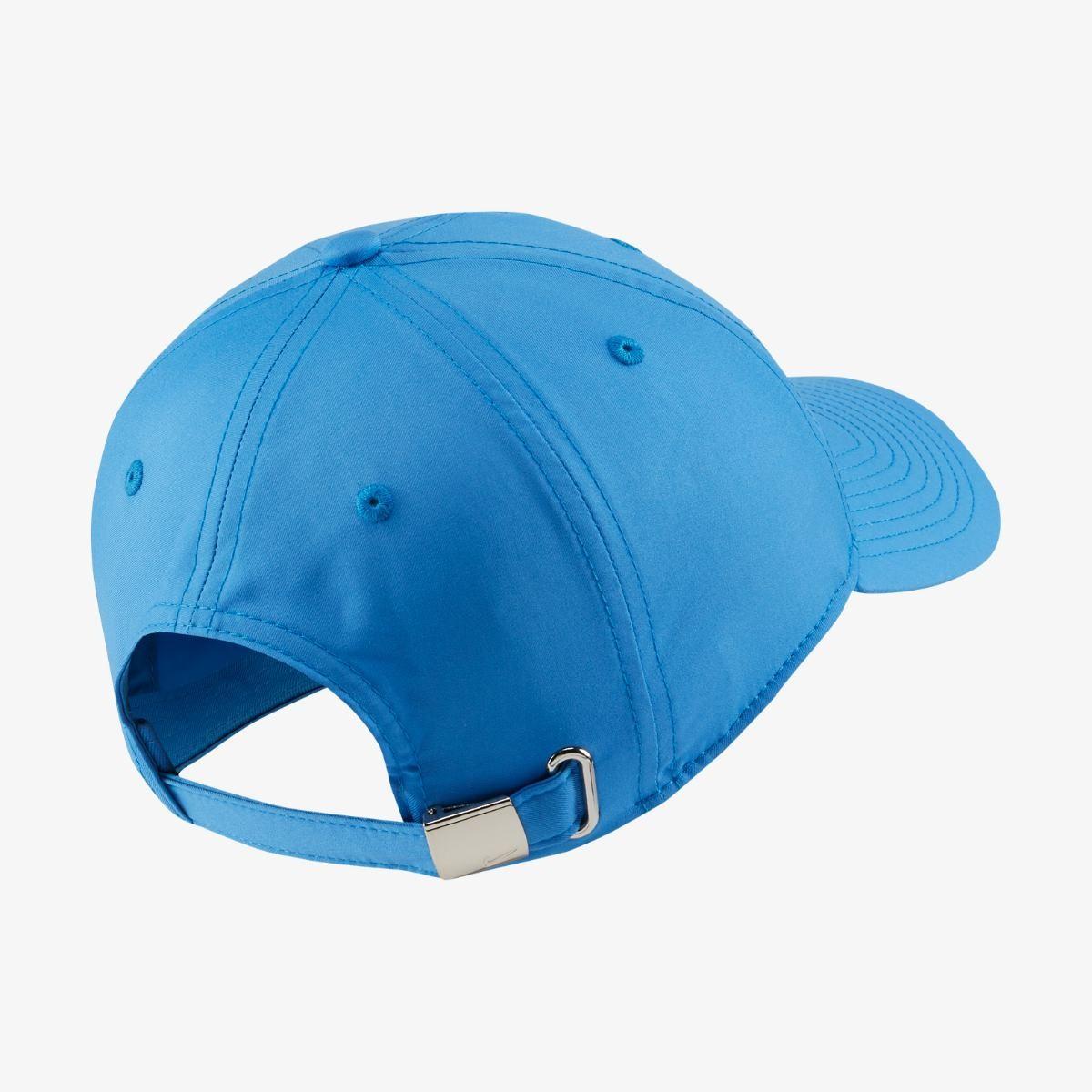Теннисная кепка Nike H86 Metal Swoosh Cap pacific blue/metallic silver