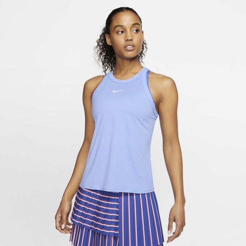 Теннисная майка женская Nike Court Dry Tank royal pulse/white