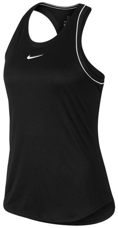 Теннисная майка женская Nike Court Dry Tank black/white