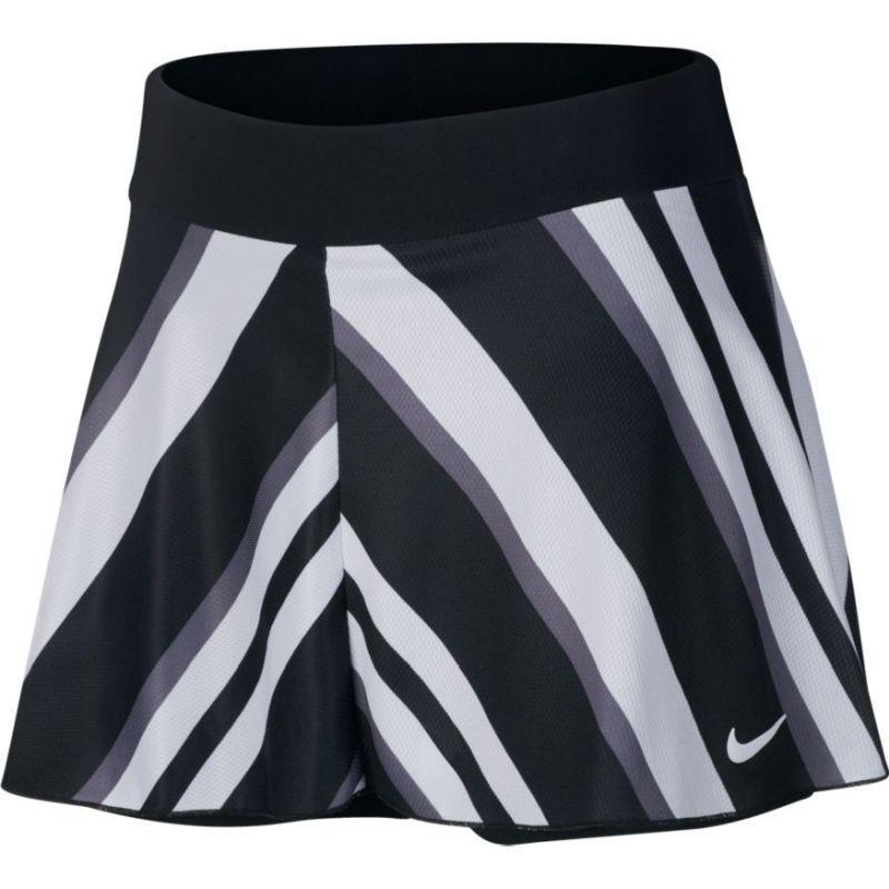 Теннисная юбка женская Nike Court Flouncy Printed Skirt black/white
