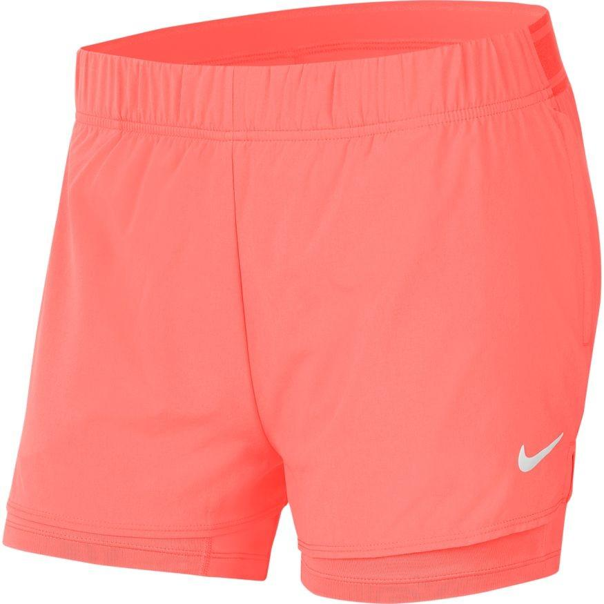 Теннисные шорты женские Nike Court Flex Short sunblush/white
