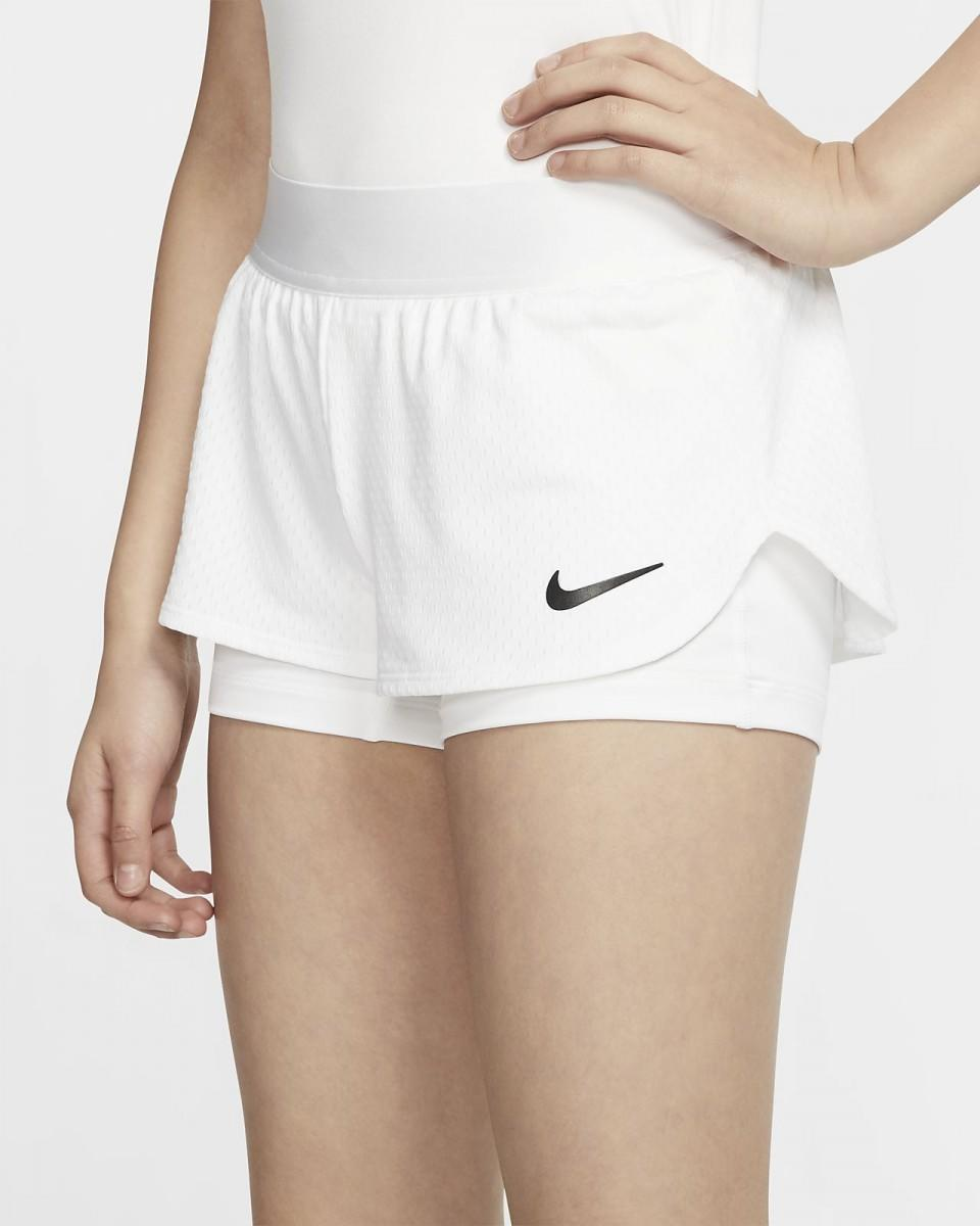 Теннисные шорты детские Nike Girls Court Flex Short white/black