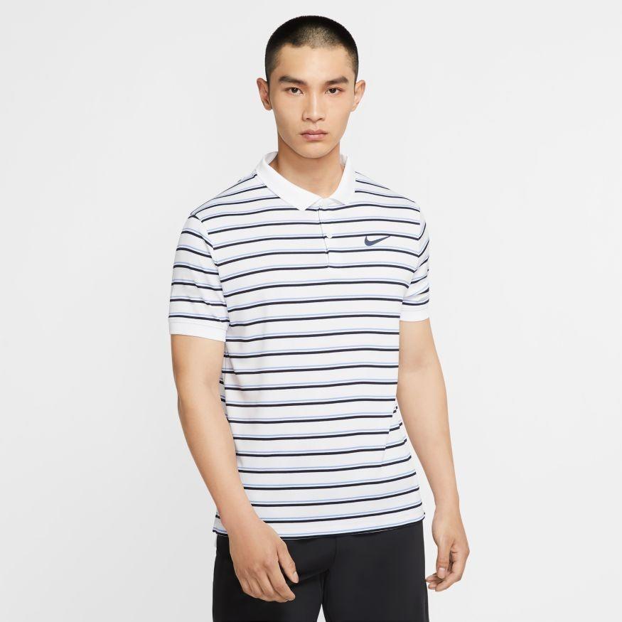Теннисная футболка мужская Nike Court Dry Pique Polo GX white/obsidian