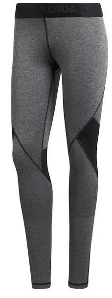 Леггинсы женские Adidas AlphaSkin Sport Heather Tight dark grey/black