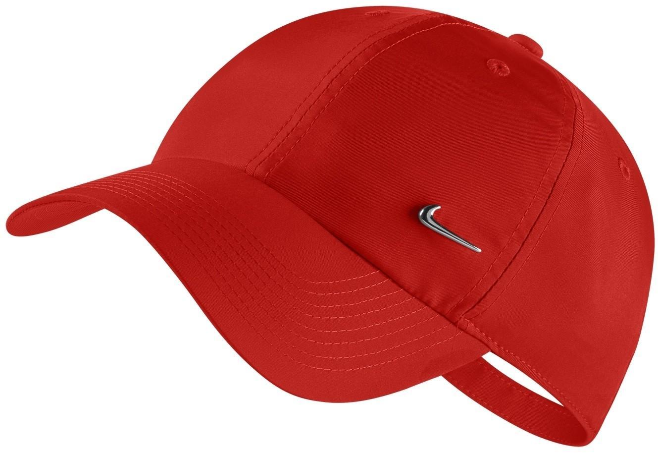Теннисная кепка Nike H86 Metal Swoosh Cap rush coral/metallic silver
