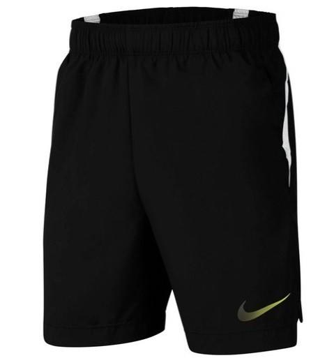 Теннисные шорты детские Nike Boys Woven Short black/white/volt