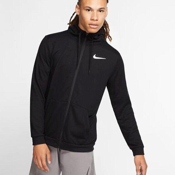 Реглан мужской Nike Dry Hoodie FZ Fleece black/white