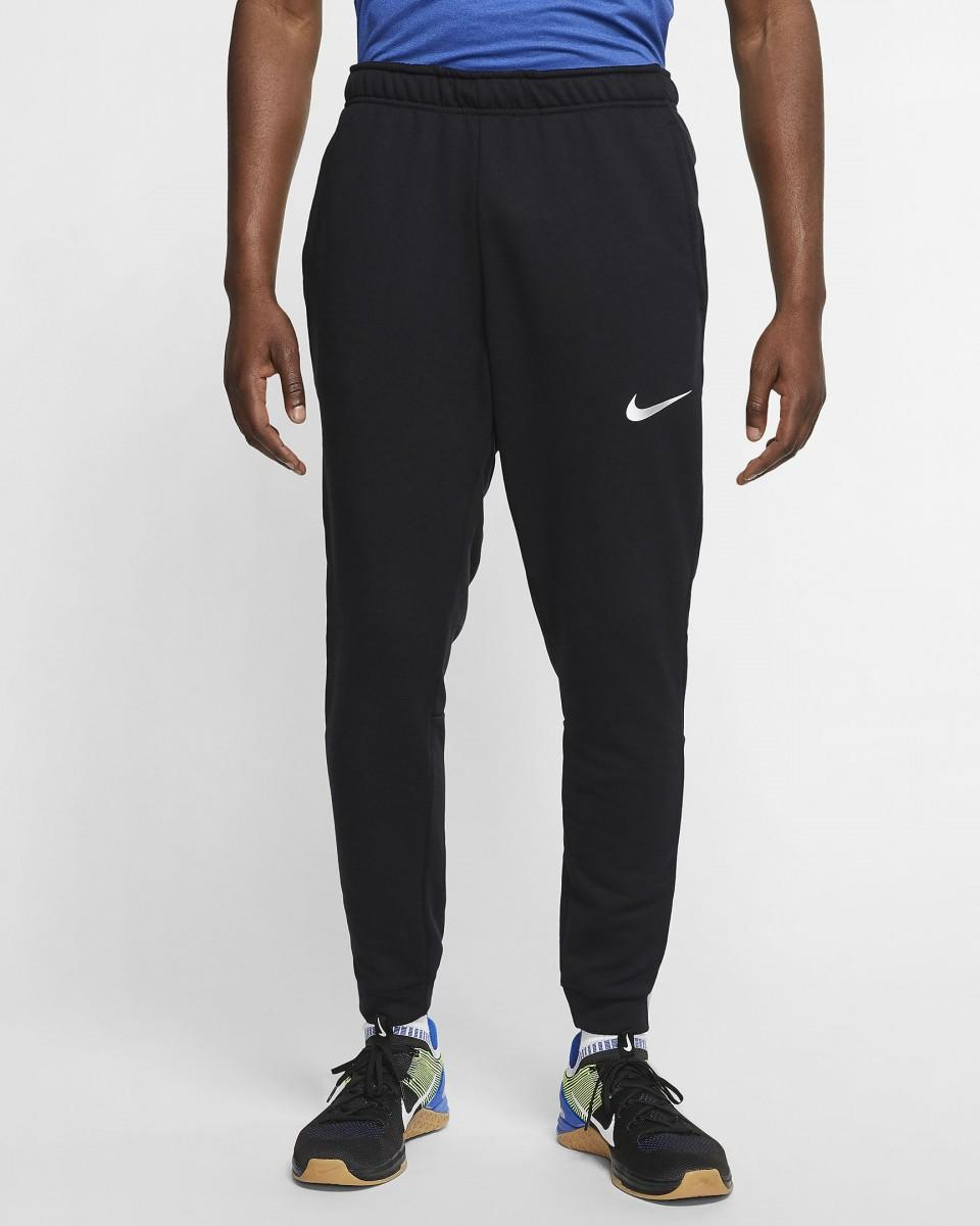 Спортивные штаны мужские Nike Dry Pant Taper Fleece black/black/white