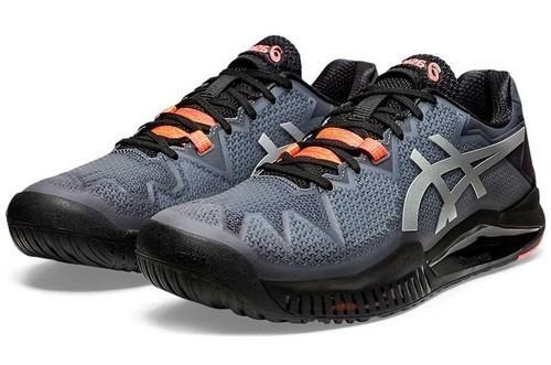 Теннисные кроссовки мужские Asics Gel-Resolution 8 L.E. black/sunrise red