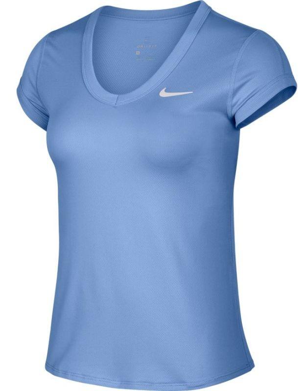 Теннисная футболка женская Nike Court Top royal pulse/white