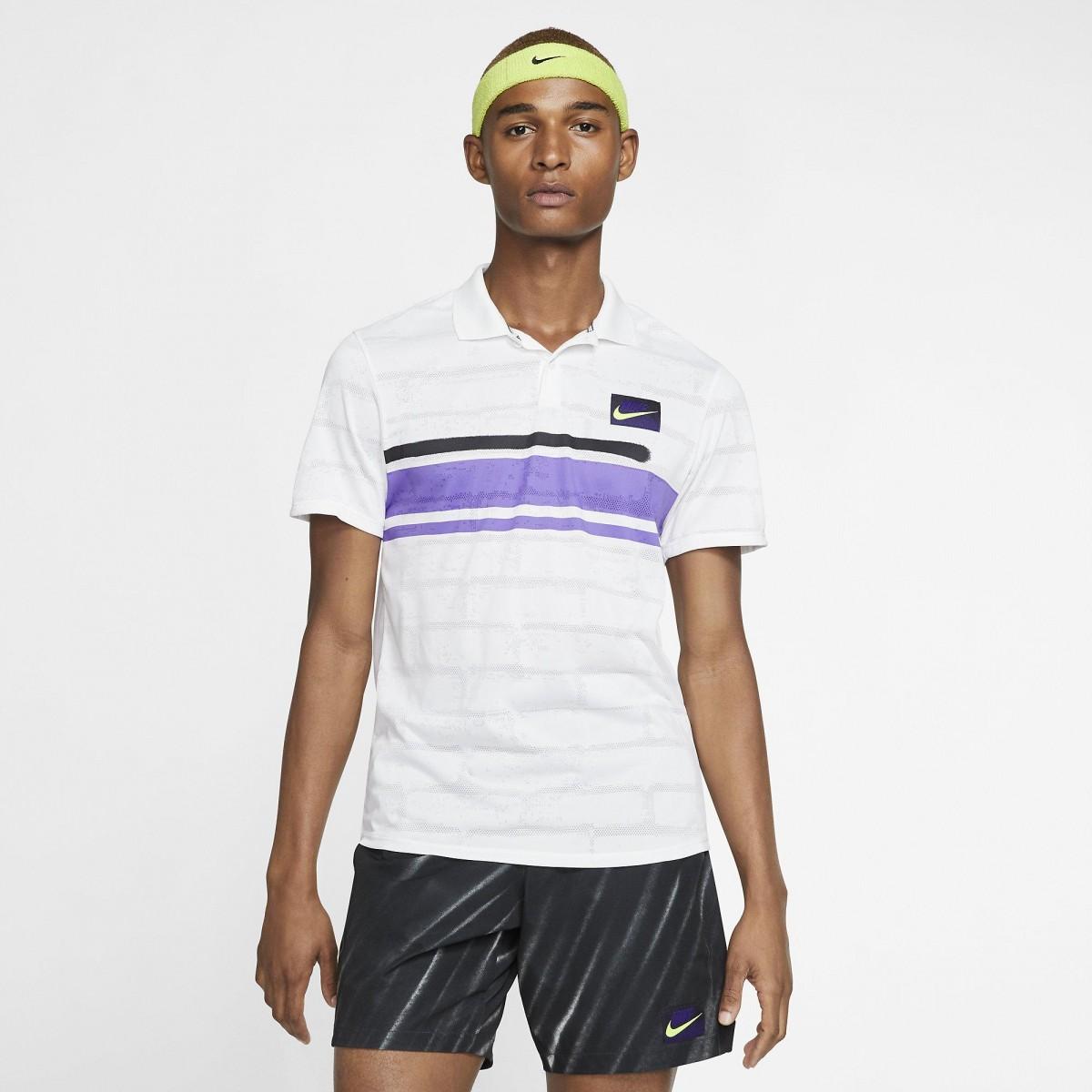 Теннисная футболка мужская Nike Court Advantage Polo New York white