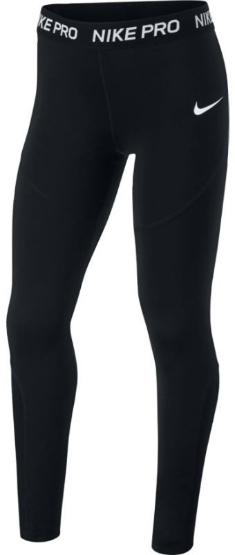 Легинсы детские Nike Sportswear Girl's Leggings black/black/black/white