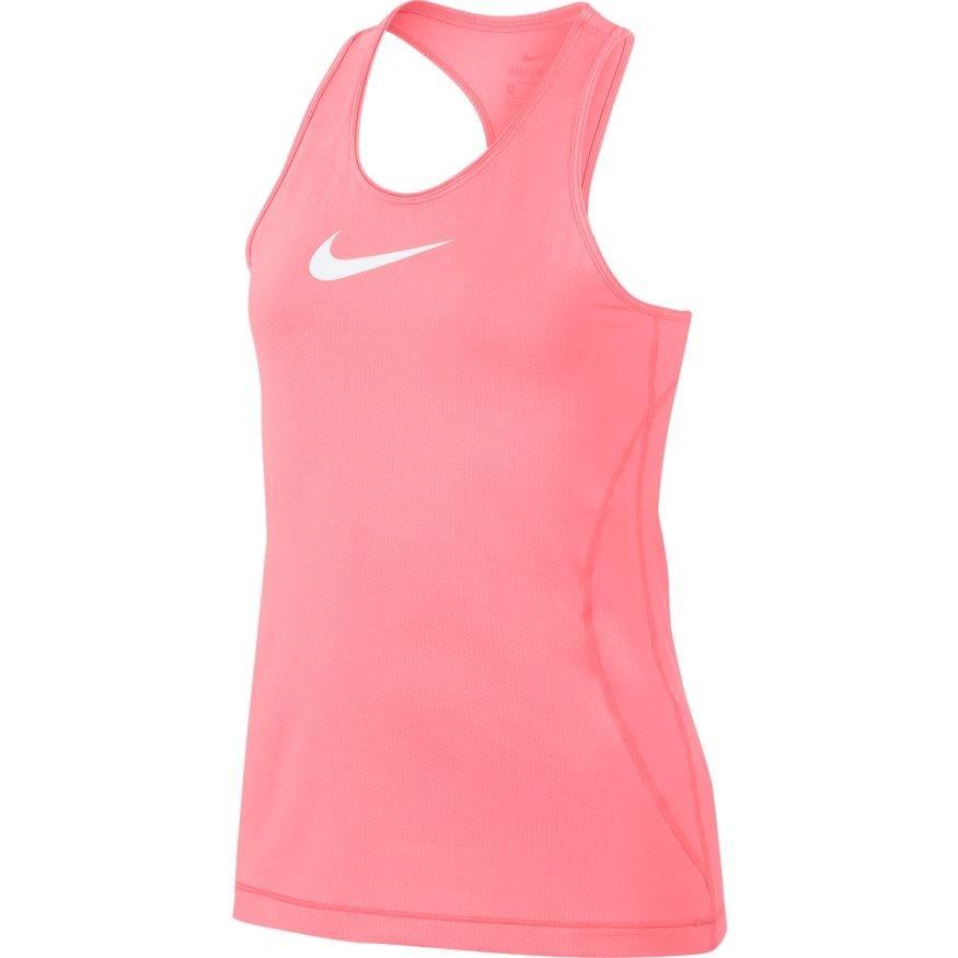 Теннисная майка детская Nike Pro Tank pink gaze/white