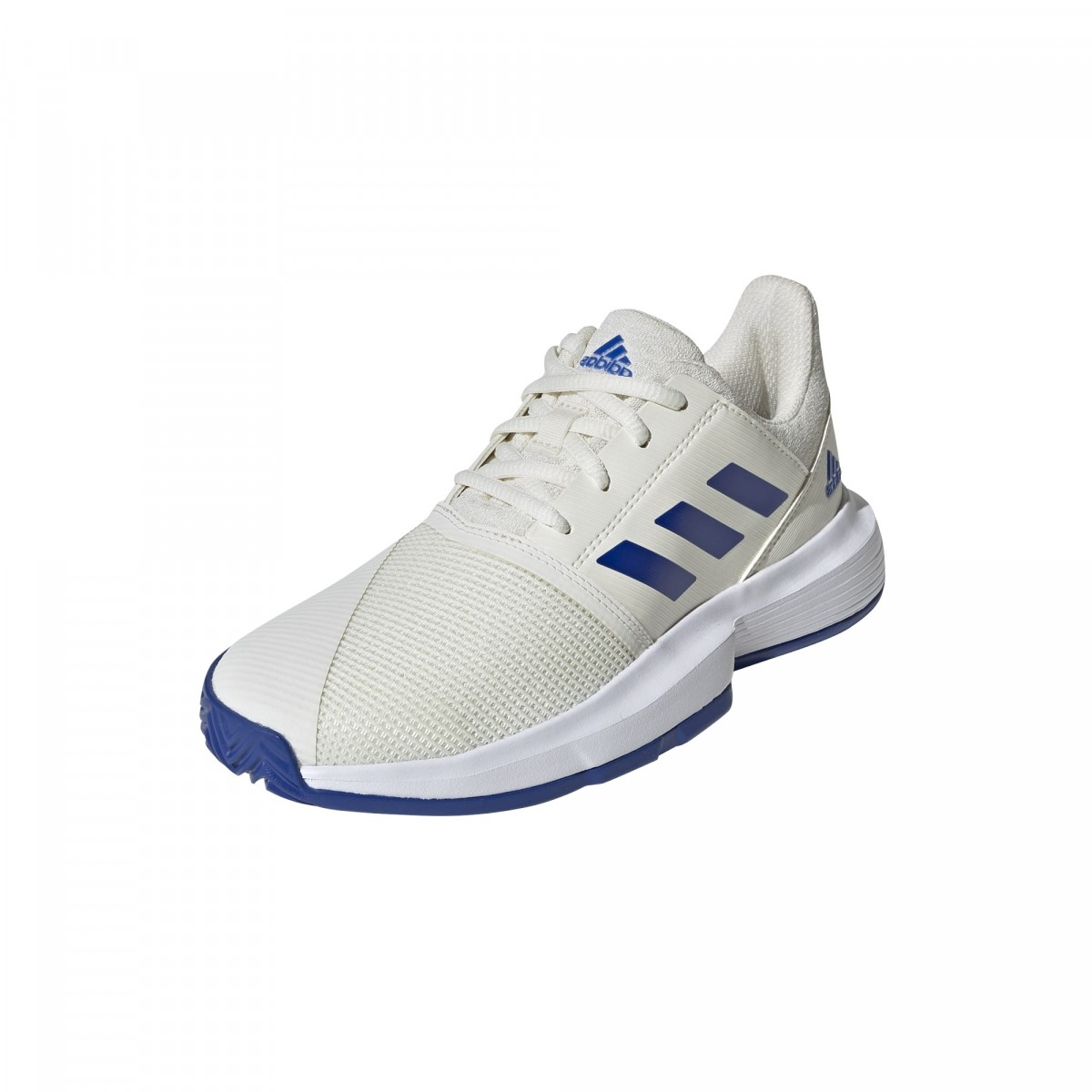 Детские теннисные кроссовки adidas CourtJam Junior white/royal blue/white
