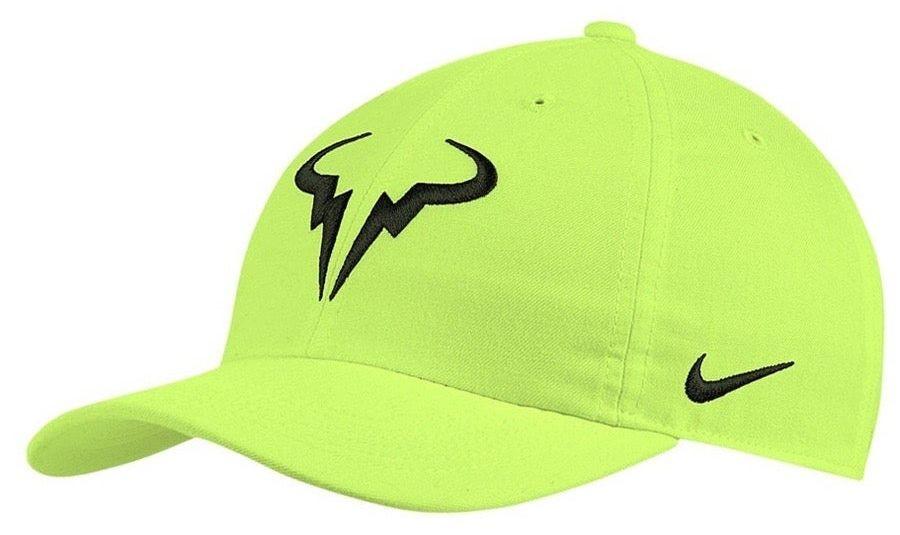 Теннисная кепка Nike Rafa U Aerobill H86 Cap volt/black