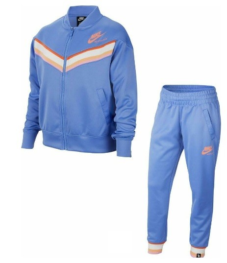 Спортивный костюм детский Nike Sportswear Heritage royal pulse/atomic pink