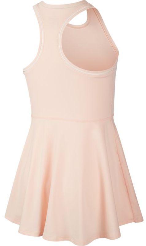 Теннисное платье для девочек Nike Court G Dry Dress washed coral/white/white/white