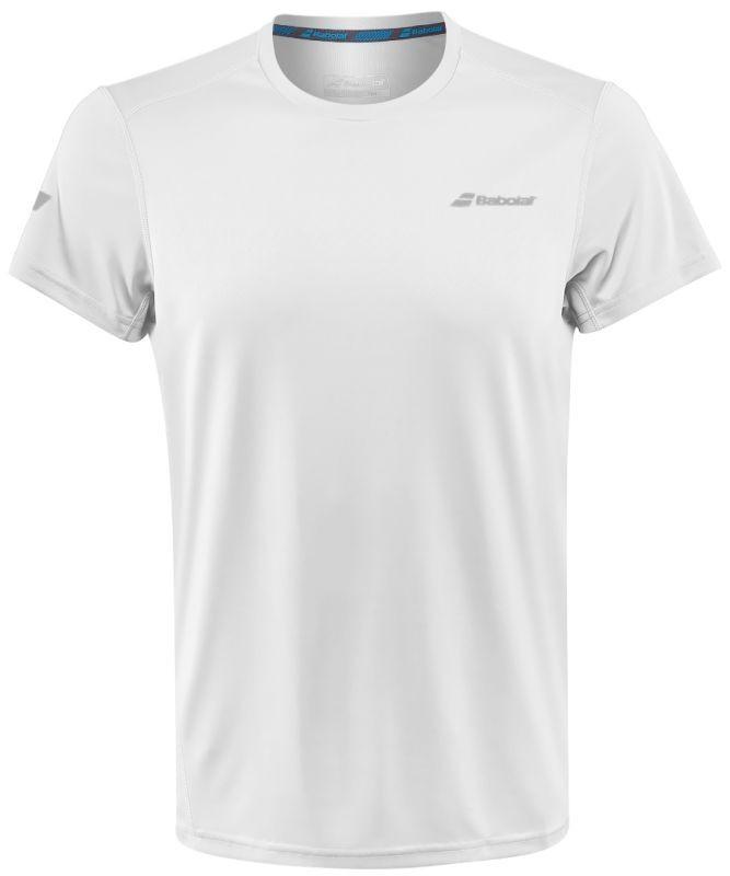 Теннисная футболка мужская Babolat Core Flag Club Tee Men white/white