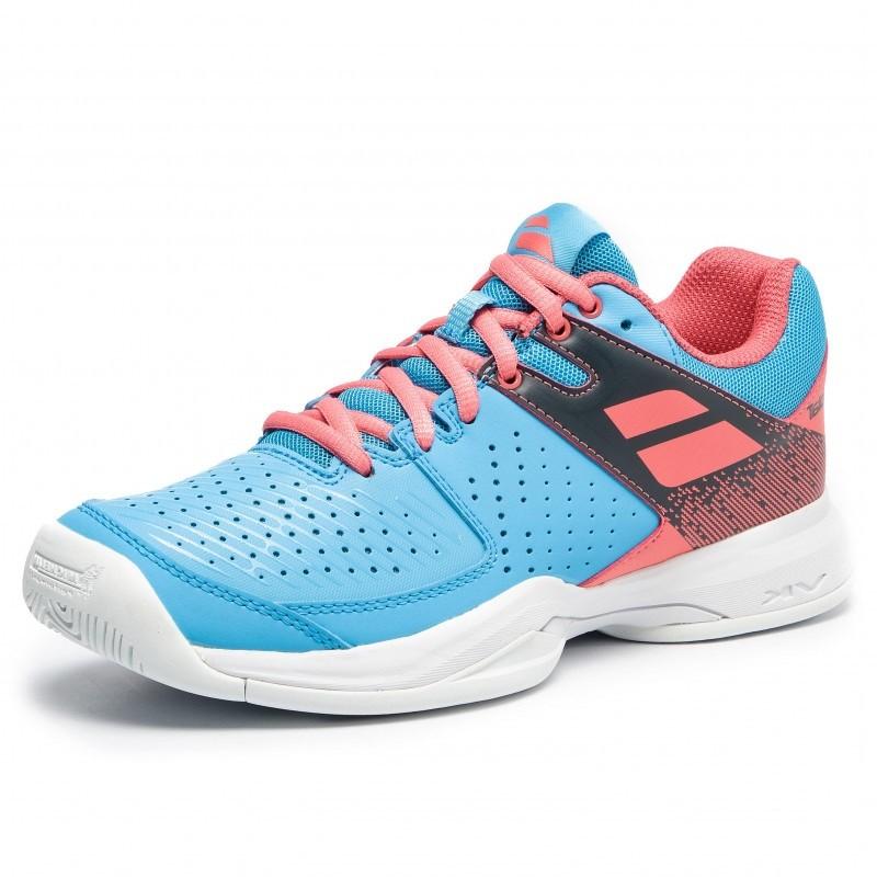 Теннисные кроссовки женские Babolat Pulsion All Court Woman sky blue/pink