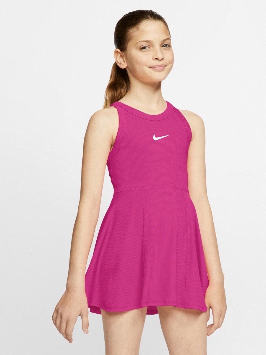 Теннисное платье для девочек Nike Court Dry Dress vivid pink/white