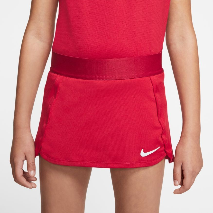 Теннисная юбка детская Nike Court Skirt STR gym red/white