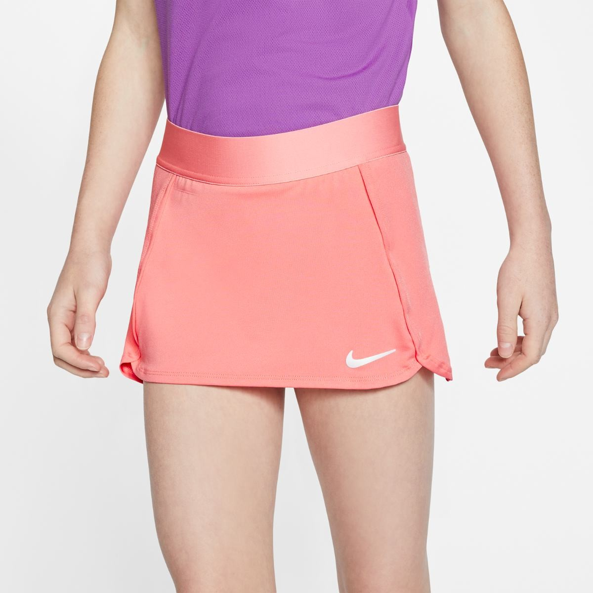 Теннисная юбка детская Nike Court Skirt STR sunblush/white
