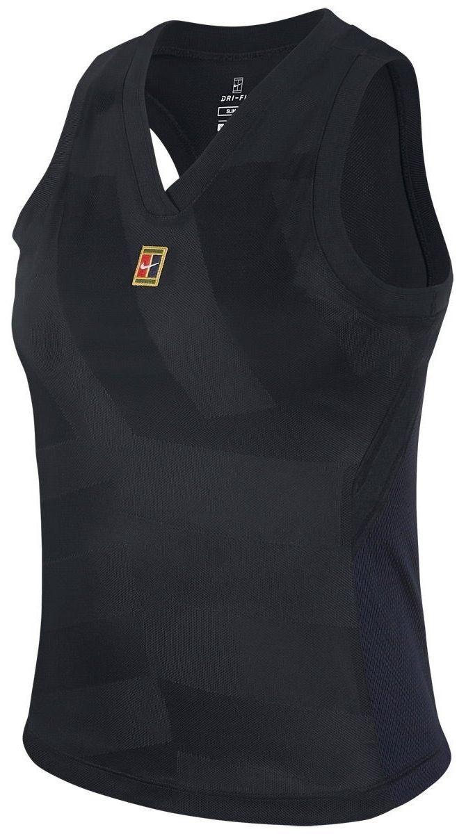 Теннисная майка женская Nike Court Dry Slam Tank LN NT black/white