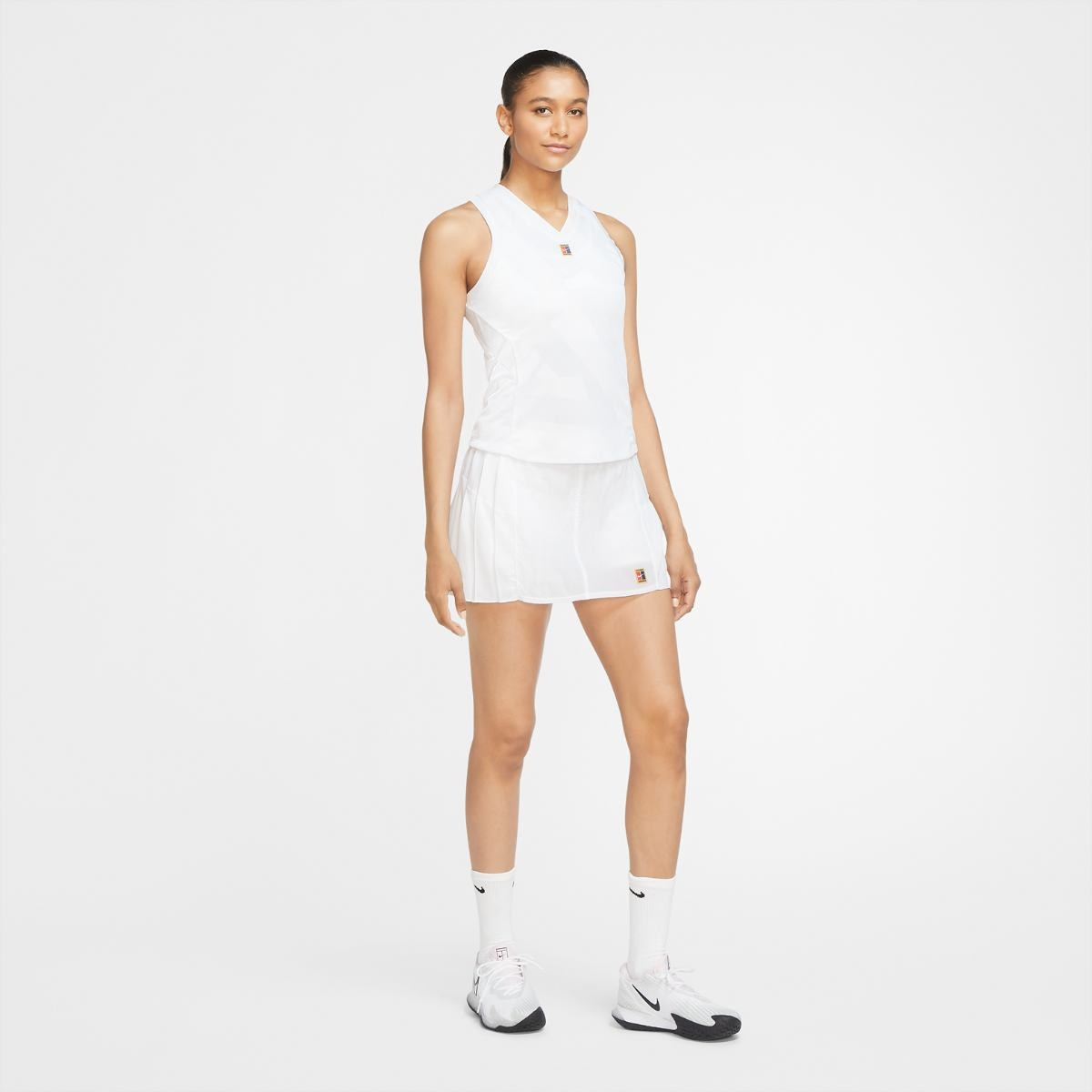 Теннисная майка женская Nike Court Dry Slam Tank LN NT white/black