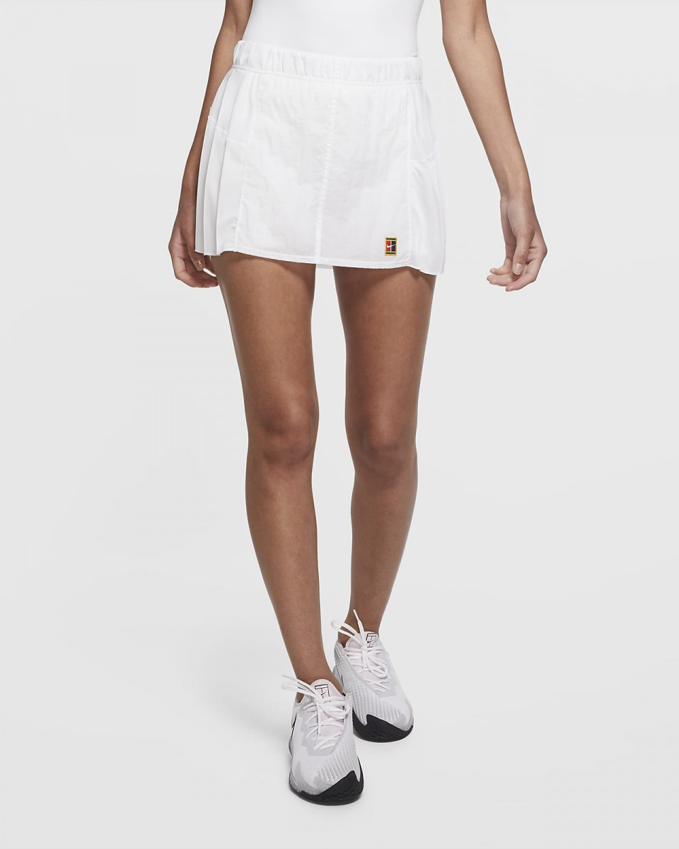 Теннисная юбка женская Nike Court Slam Skirt LN NT white