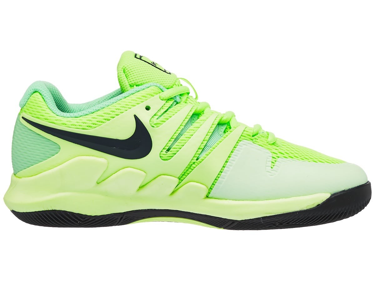Детские теннисные кроссовки Nike Air Zoom Vapor 10 HC Jr ghost green/blackened blue