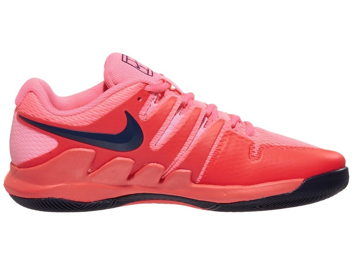 Детские теннисные кроссовки Nike Air Zoom Vapor 10 HC Jr laser crimson/blackened blue