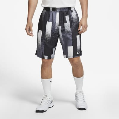 Теннисные шорты мужские Nike Court Dry-Fit Short 9in Print black/white