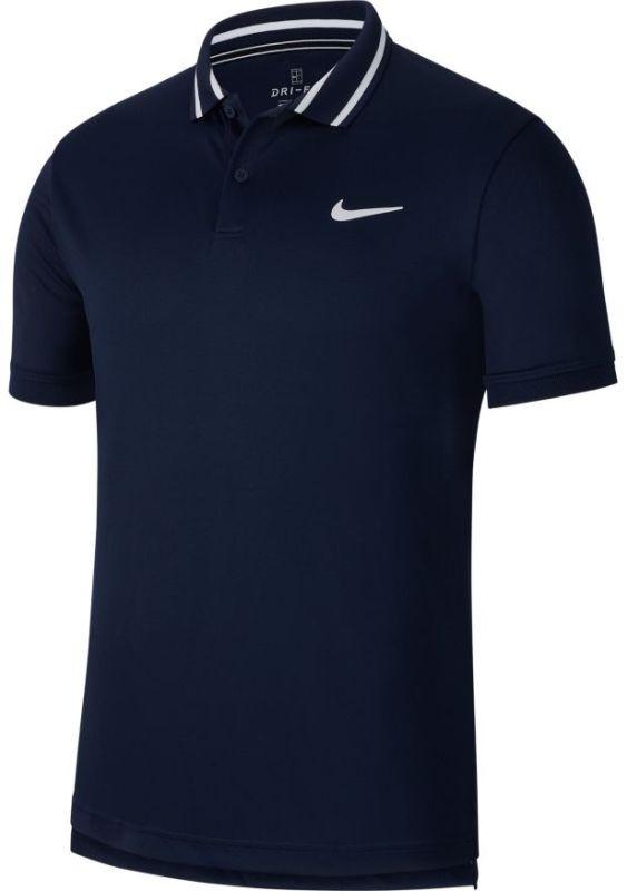 Теннисная футболка мужская Nike Court Dry Pique Polo obsidian/white/white