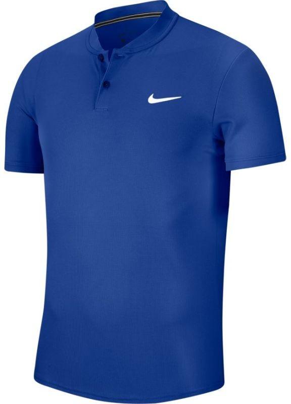 Теннисная футболка мужская Nike Court Dry Blade Polo game royal/white