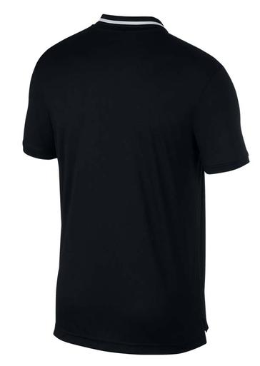 Теннисная футболка мужская Nike Court Dry Pique Polo black/white