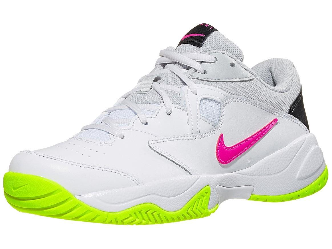 Теннисные кроссовки женские Nike Court Lite 2 white/laser fuchsia/hot lime