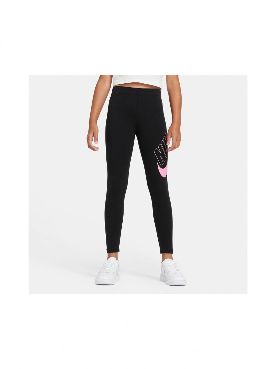 Леггинсы детские Nike Sportswear Favorites Graphic Leggings black/pink