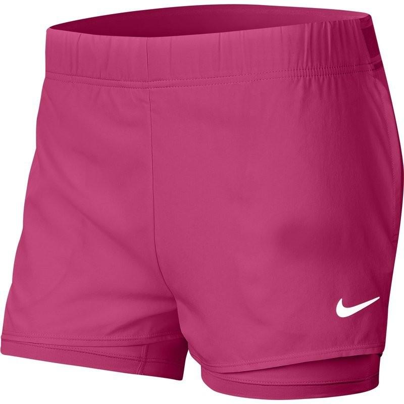 Теннисные шорты женские Nike Court Flex Short vivid pink/white