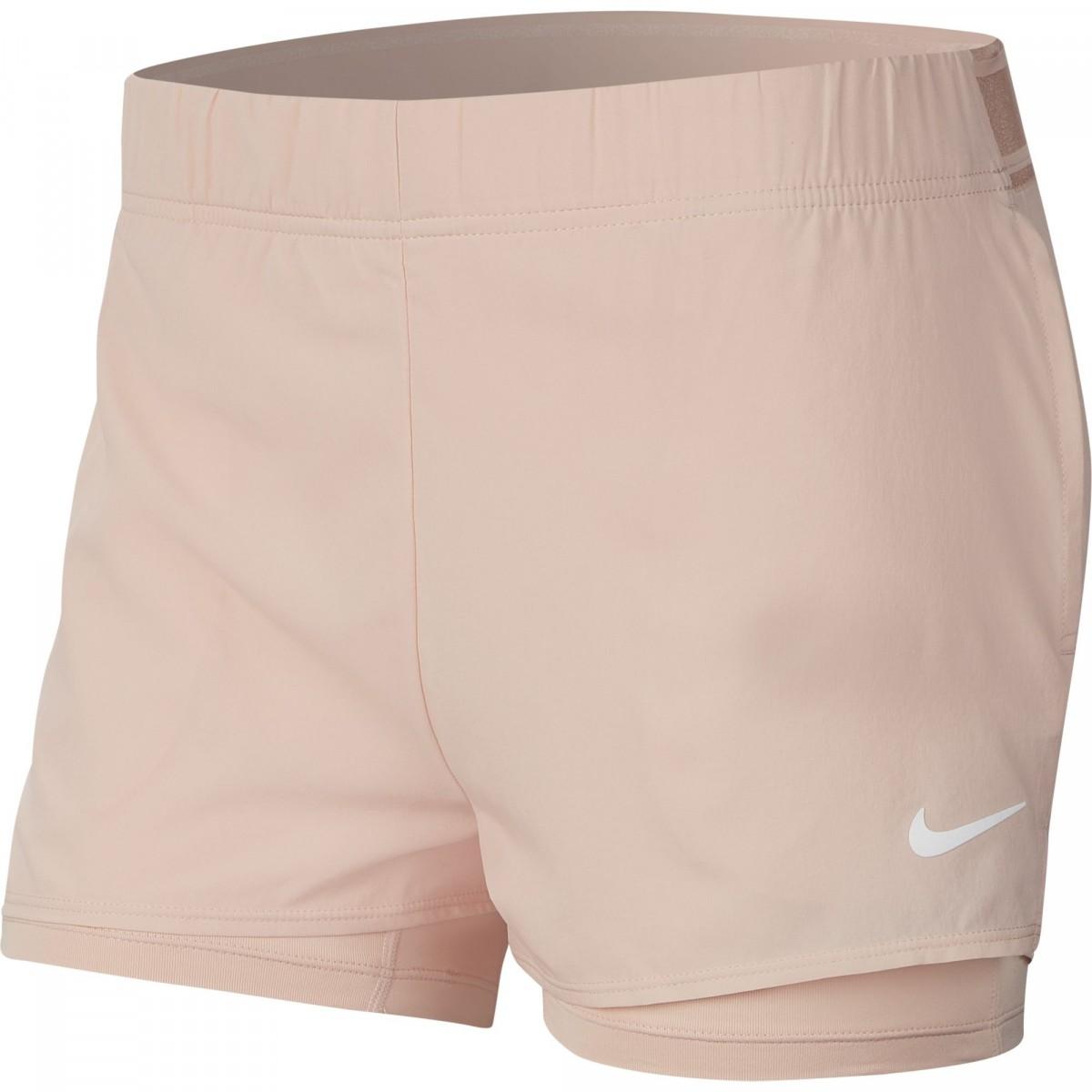 Теннисные шорты женские Nike Court Flex Short washed coral/white