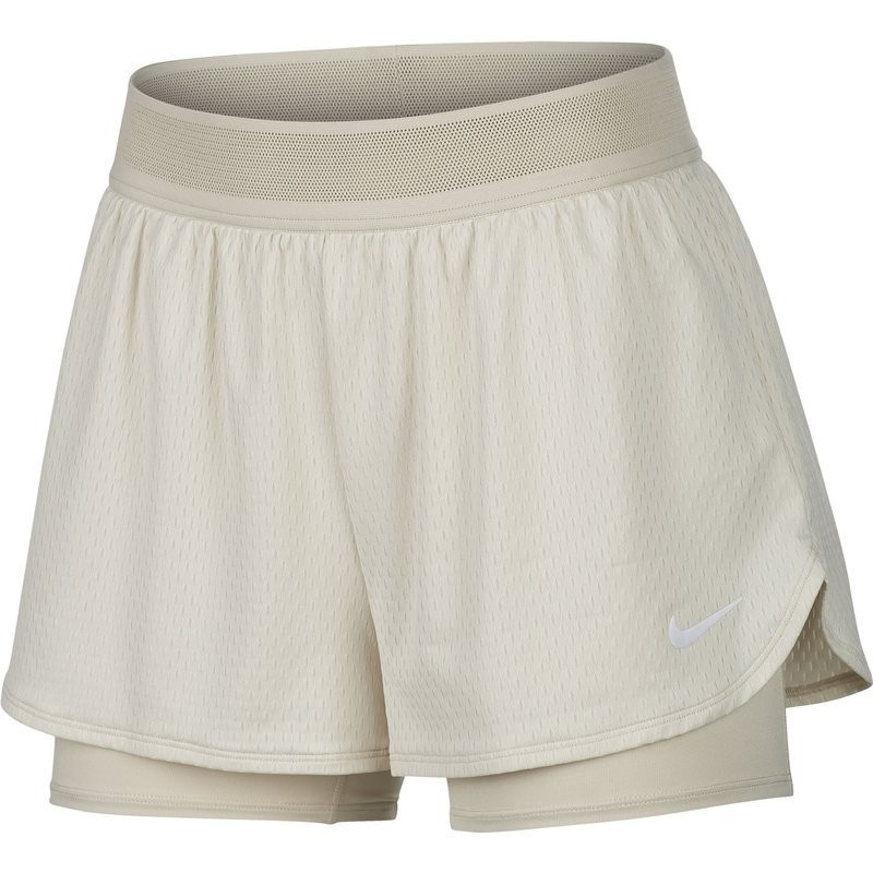 Теннисные шорты женские Nike Court W Dry Flex Elevated Essential Short light orewood brown/white