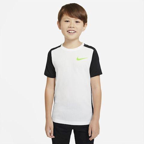 Теннисная футболка детская Nike Instacool Sleeve Training Top white/black